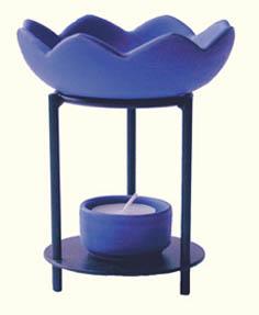 Duftlampe Lotos blau